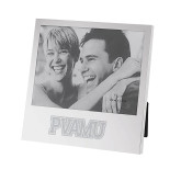 Silver Two Tone 5 x 7 Vertical Photo Frame-PVAMU Engraved