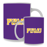 Full Color White Mug 15oz-PVAMU Black Fox Overlap