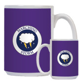Full Color White Mug 15oz-Marching Storm Cloud Circle