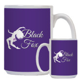 Full Color White Mug 15oz-Black Fox Logo