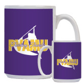 Full Color White Mug 15oz-PVAMU Twirling Thunder Logo
