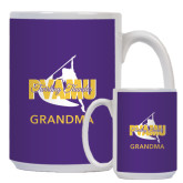 Full Color White Mug 15oz-Twirling Thunder Grandma