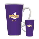 Full Color Latte Mug 17oz-Twirling Thunder Dad
