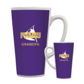 Full Color Latte Mug 17oz-Twirling Thunder Grandpa