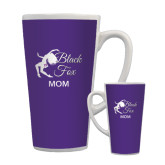 Full Color Latte Mug 17oz-Black Fox Mom