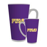 Full Color Latte Mug 17oz-PVAMU Black Fox Overlap