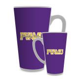 Full Color Latte Mug 17oz-PVAMU Twirling Thunder Overlap