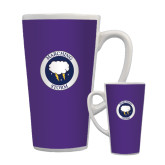 Full Color Latte Mug 17oz-Marching Storm Cloud Circle