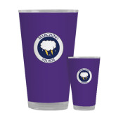 Full Color Glass 17oz-Marching Storm Cloud Circle