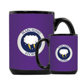 Full Color Black Mug 15oz-Marching Storm Cloud Circle