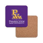 Hardboard Coaster w/Cork Backing-PVAM Stacked