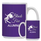 Alumni Full Color White Mug 15oz-Black Fox Alumni