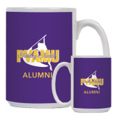 Alumni Full Color White Mug 15oz-Twirling Thunder Alumni