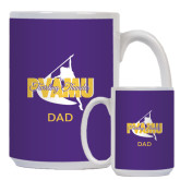 Dad Full Color White Mug 15oz-Twirling Thunder Dad