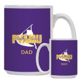 Dad Full Color White Mug 15oz-Twirling Thunder Dad