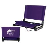 Stadium Chair Purple-Black Fox Mom