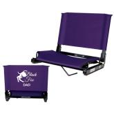 Stadium Chair Purple-Black Fox Dad