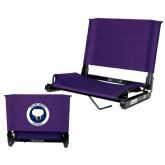 Stadium Chair Purple-Marching Storm Cloud Circle