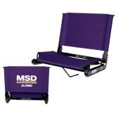 Stadium Chair Purple-MSD Alumni