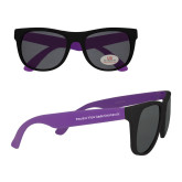 Purple Sunglasses-Word Mark Flat