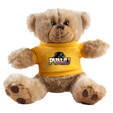 Plush Big Paw 8 1/2 inch Brown Bear w/Gold Shirt-Official Logo