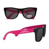 Black/Hot Pink Sunglasses-PVAMU Marching Storm Wordmark