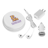 3 in 1 White Audio Travel Kit-PVAM Stacked