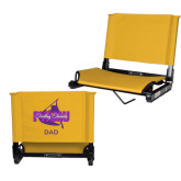 Stadium Chair Gold-Twirling Thunder Dad