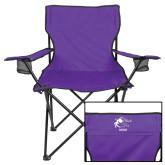 Deluxe Purple Captains Chair-Black Fox Mom