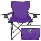 Deluxe Purple Captains Chair-Marching Storm Cloud Circle