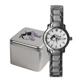 Ladies Stainless Steel Fashion Watch-Black Fox Logo