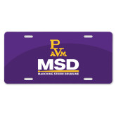 License Plate-MSD w/ PVAM Logo