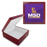Red Mahogany Accessory Box With 6 x 6 Tile-MSD w/ PVAM Logo