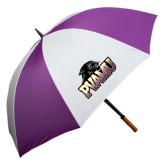 64 Inch Purple/White Umbrella-Official Logo