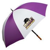 64 Inch Purple/White Umbrella-Athletic Directors Club