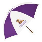 64 Inch Purple/White Umbrella-PVAM Stacked