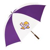 64 Inch Purple/White Umbrella-PVAM Texas