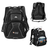 High Sierra Swerve Black Compu Backpack-Alumni