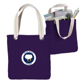 Allie Purple Canvas Tote-Marching Storm Cloud Circle
