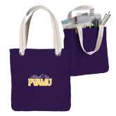 Allie Purple Canvas Tote-Black Fox PVAMU Stacked