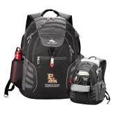 High Sierra Big Wig Black Compu Backpack-PVAM Stacked