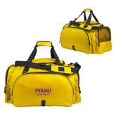 Challenger Team Gold Sport Bag-PVAMU Twirling Thunder Script