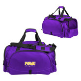 Challenger Team Purple Sport Bag-Twirling Thunder PVAMU Stacked