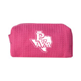 Small Hot Pink Waffle Cosmetic Bag-PVAM Texas