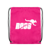 Pink Drawstring Backpack-Primary Mark 1 Color