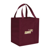 Non Woven Maroon Grocery Tote-Primary Mark 2 Color