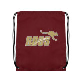 Maroon Drawstring Backpack-Primary Mark Full Color
