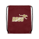 Maroon Drawstring Backpack-Primary Mark 2 Color