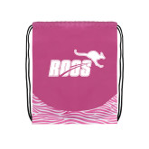 Nylon Zebra Pink/White Patterned Drawstring Backpack-Primary Mark 1 Color
