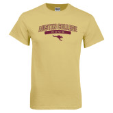 Champion Vegas Gold T Shirt-Austin College Roos Arched